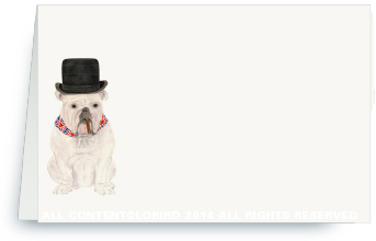 English Bulldog place card