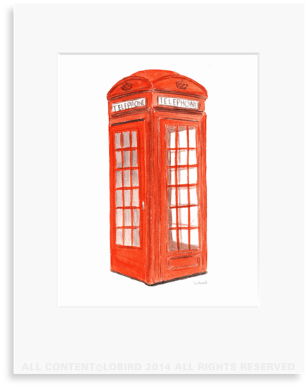 London Phone Booth Print