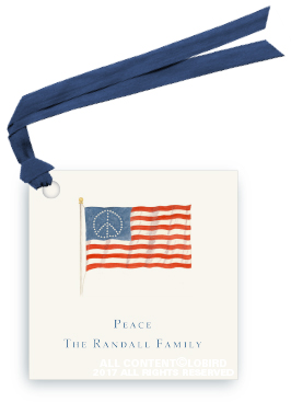American Peace Flag Gift Tag