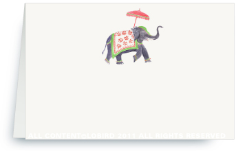 Festive Elephant - green/red