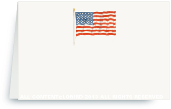 AMerican Flag place card