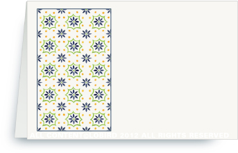 Talavera Tile - navy/green