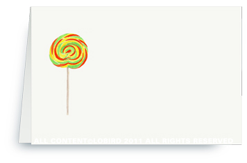 Swirl Lollipop –Green-Orange