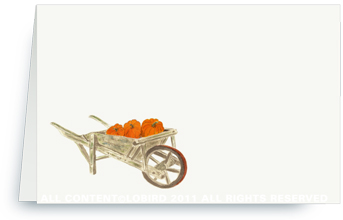 Pumpkins in Wheelbarrow