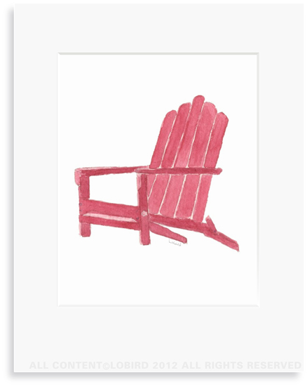Beach Adirondack Chair