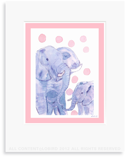 Elephant-mother/baby