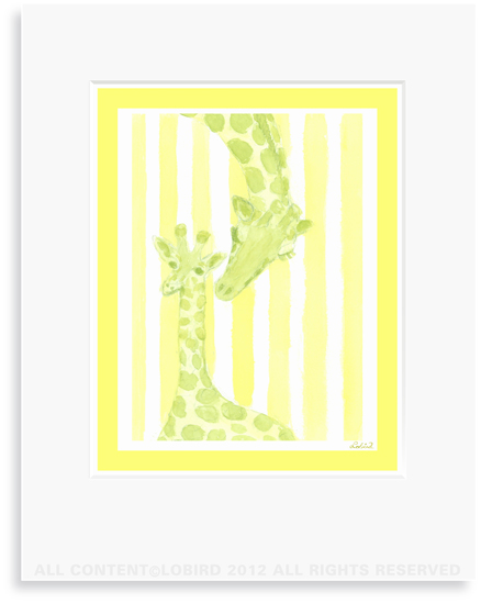 Giraffe-mother/baby
