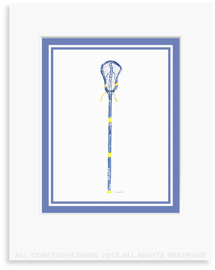 Blue Lacrosse Stick