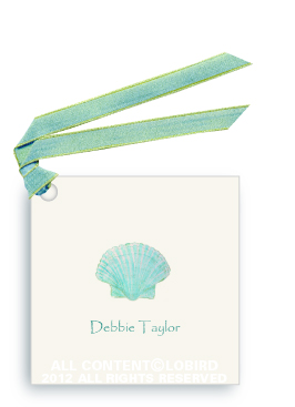 Aqua Green Scallop Shell