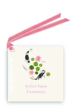 Koi Swimming1 gift tag