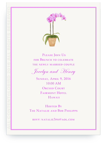 purple Orchid Invite