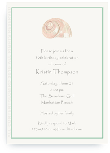 Pearl Turban Shell Invite