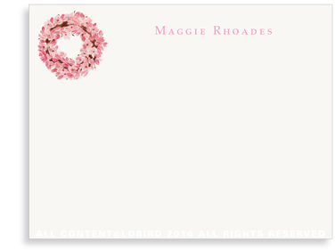 magnolia wreath flat note card