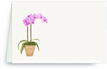 purple orchid placecard