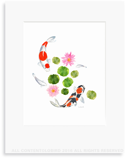 Koi Swimming1 print