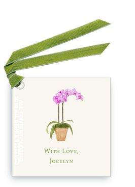 purple orchid tag